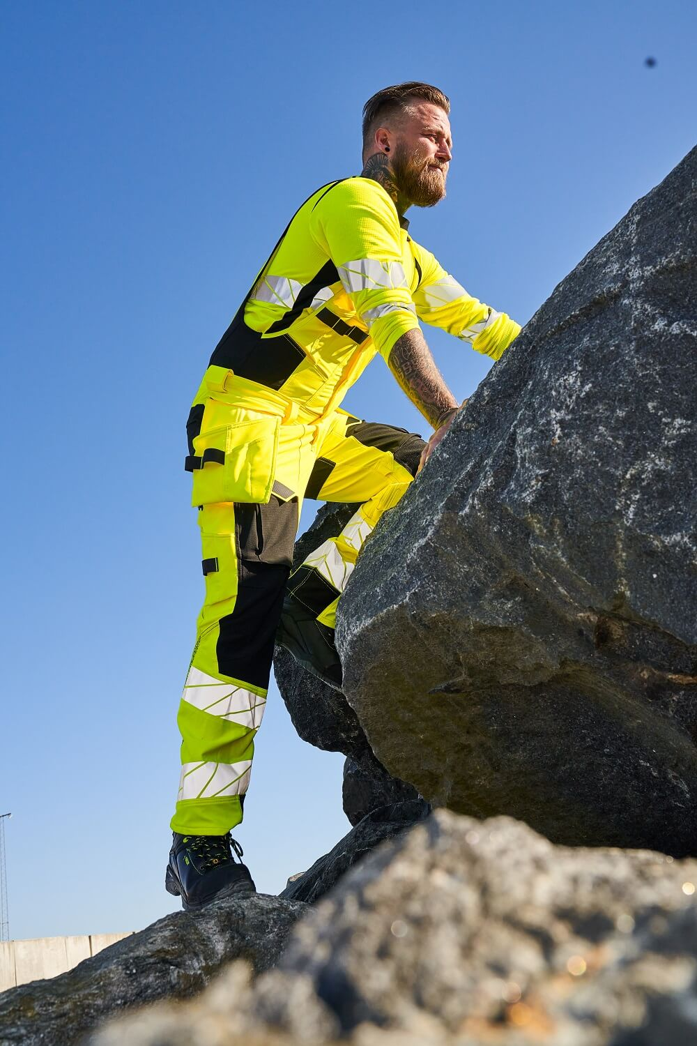 Man - Bodybroek Hi-vis geel - MASCOT® ACCELERATE SAFE